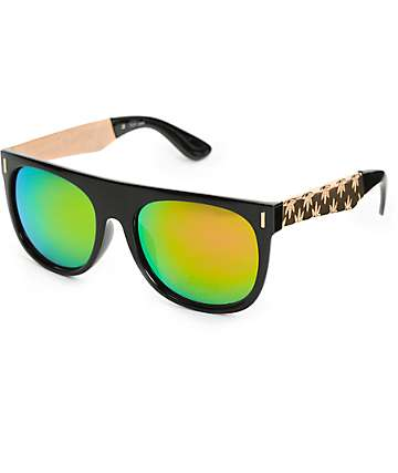 Flat Top Gold Arm Revo Sunglasses