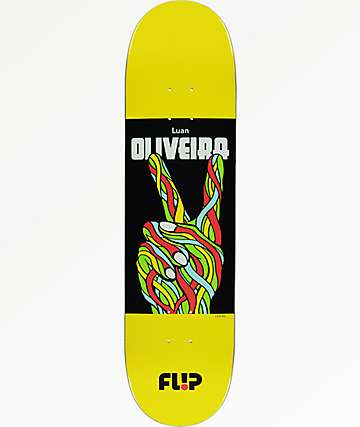 "Flip Oliveira Peace 8.13"" Skateboard Deck"
