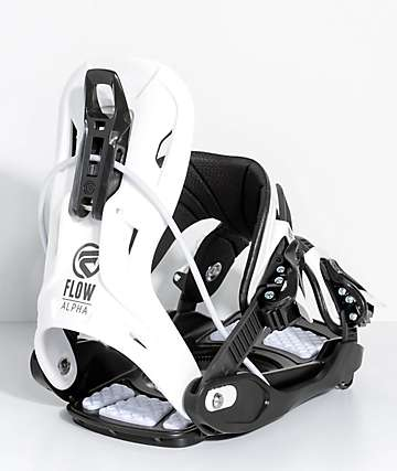 Flow Alpha Charcoal Snowboard Bindings