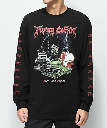 Flying Coffin A.L.F Black Long Sleeve T-Shirt