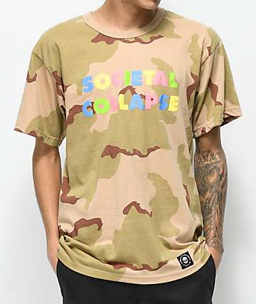Flying Coffin Collapse Desert Camo T-Shirt