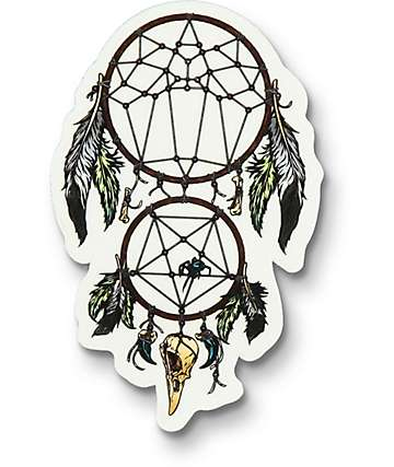 Flying Coffin Dream Catcher Sticker