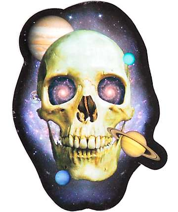 Flying Coffin Eternity Space Skull Sticker