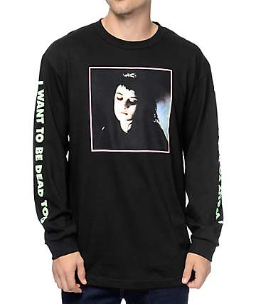Flying Coffin Lydia Black Long Sleeve T-Shirt
