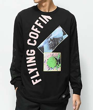 Flying Coffin Nameless Black Long Sleeve T-Shirt