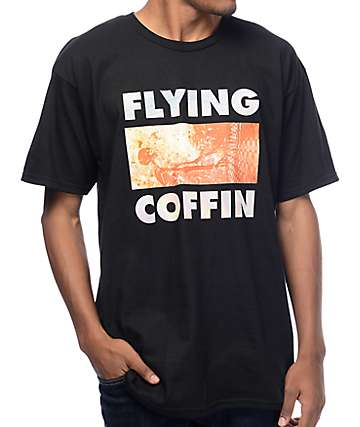 Flying Coffin No Fate Black T-Shirt