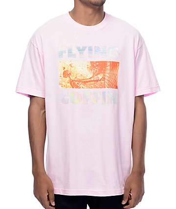 Flying Coffin No Fate Pink T-Shirt