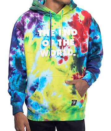 Flying Coffin The End Tie Dye Multi Colored Hoodie