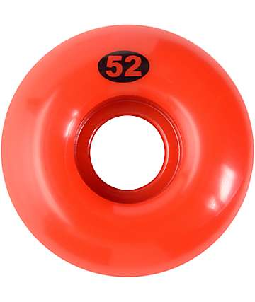 Form 52mm Solid Red Skateboard Wheels