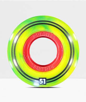 Form Dualite Rasta Swirl 51mm ruedas de skateboard