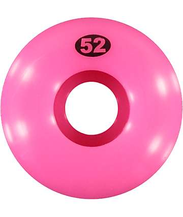 Form Solid Neon Pink 52mm Skateboard Wheels