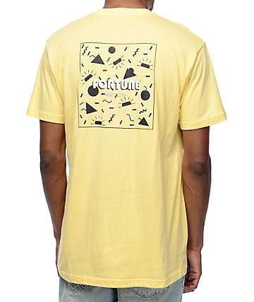 Fortune 70s Summer Pastel Yellow T-Shirt