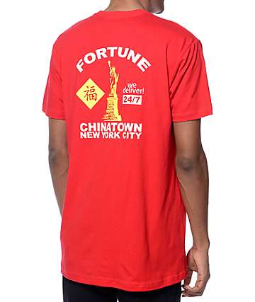 Fortune Chinese Delivery Red T-Shirt