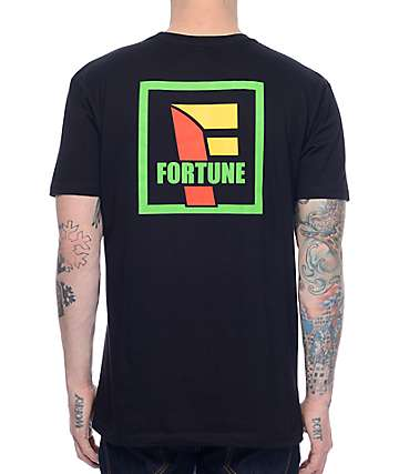 Fortune Convenient Black T-Shirt