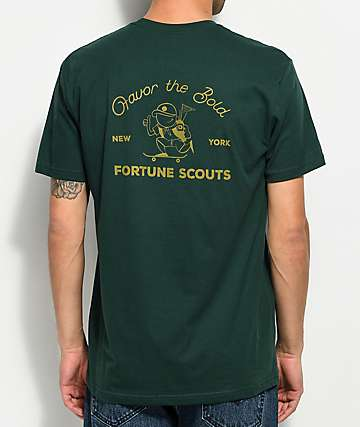 Fortune Favor The Bold Green T-Shirt