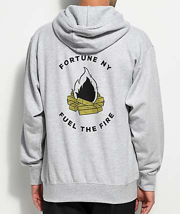 Fortune Fuel The Fire Grey Hoodie