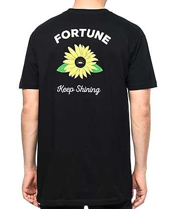 Fortune Keep Shining Black T-Shirt