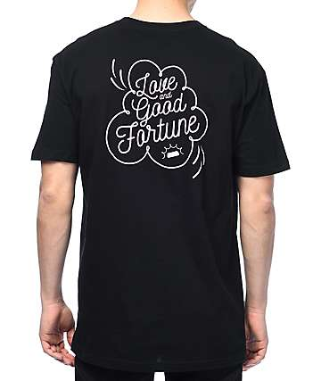 Fortune Love & Good Fortune Black T-Shirt