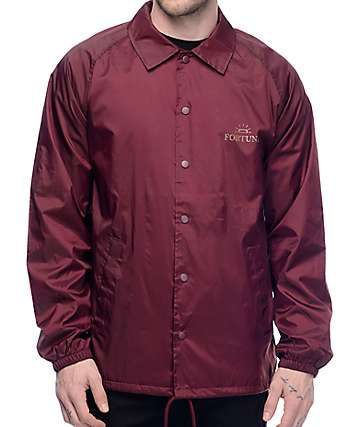 Fortune NY Burgundy Coaches Jacket