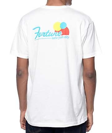 Fortune NY Script White T-Shirt
