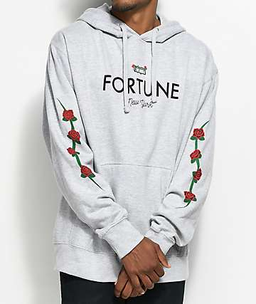 Fortune Rose Brick Grey Hoodie