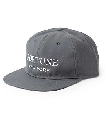 Fortune Uncon Charcoal Strapback Hat