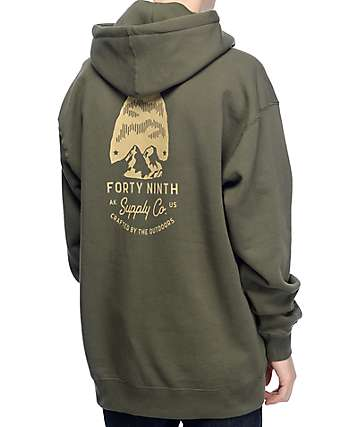 Forty Ninth Supply Co Arrow Army Green Hoodie