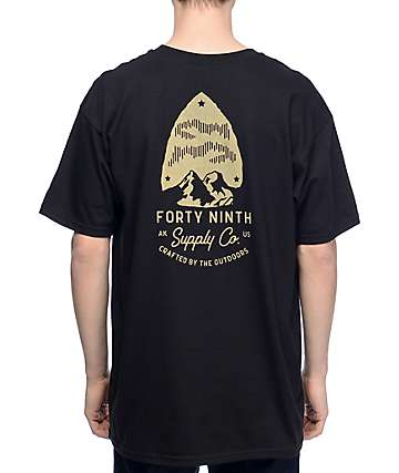 Forty Ninth Supply Co Arrow camiseta negra