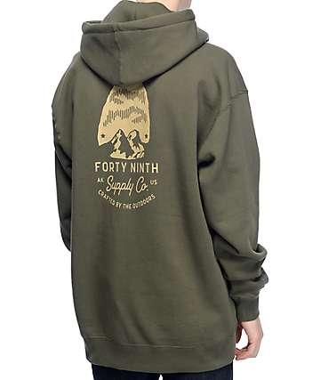 Forty Ninth Supply Co Arrow sudadera con capucha en verde militar