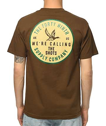 Forty Ninth Supply Co Calling The Shots camiseta marrón