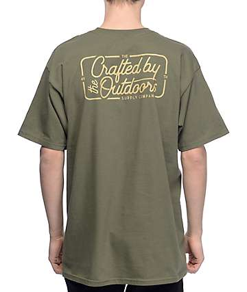 Forty Ninth Supply Co Crafted Army Green T-Shirt