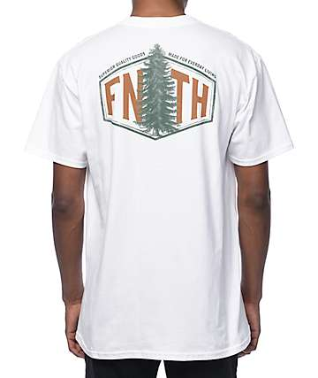 Forty Ninth Supply Co Evergreen White T-Shirt
