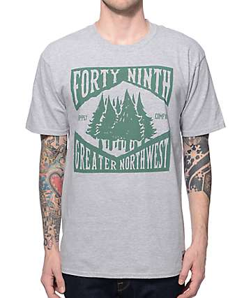 Forty Ninth Supply Co Greater NW Trees Grey T-Shirt