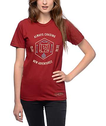 Forty Ninth Supply Co New Adventures Burgundy T-Shirt