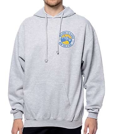 Forty Ninth Supply Co Take A Hike Heather Grey Hoodie