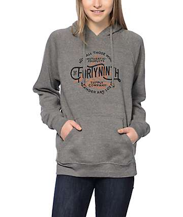 Forty Ninth Supply Co Wander Grey Hoodie