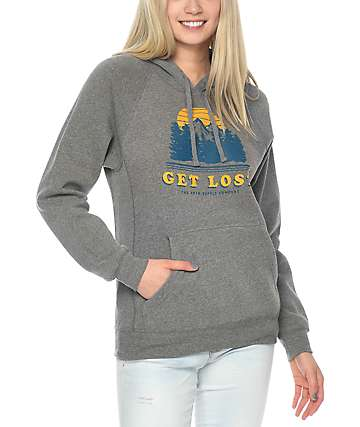 Forty Ninth Supply Co. Get Lost Grey Hoodie