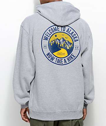 Forty Ninth Supply Co. Take A Hike Grey Hoodie