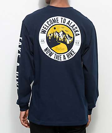 Forty Ninth Supply Co. Take A Hike Navy Long Sleeve T-Shirt