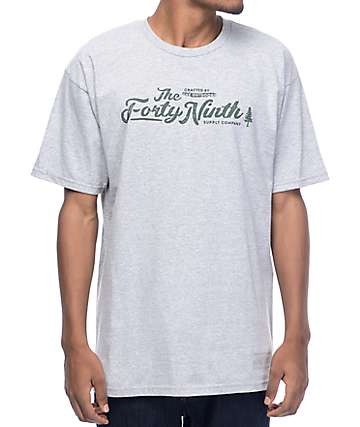Forty Ninth Supply Co. The Oath Heather Grey T-Shirt