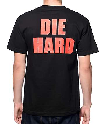 Four Finger Press Die Hard Black T-Shirt