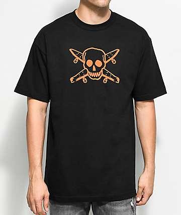 Fourstar Skate Pirate Black & Orange T-Shirt