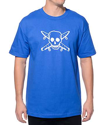 Fourstar Street Pirate Royal Blue T-Shirt