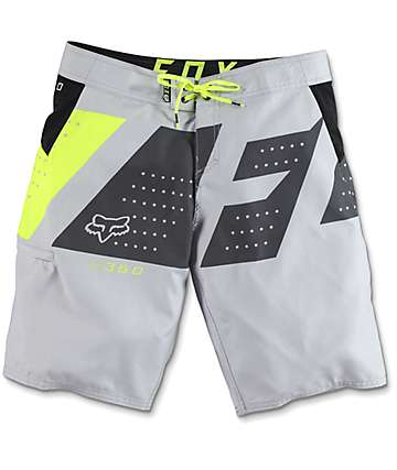 Fox 360 Seca Light Grey Board Shorts