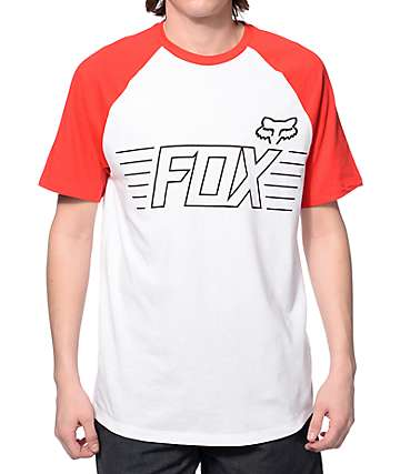 Fox Conjurer White Raglan T-Shirt