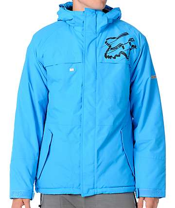 Fox FX1 Blue 5K Mens Snowboard Jacket