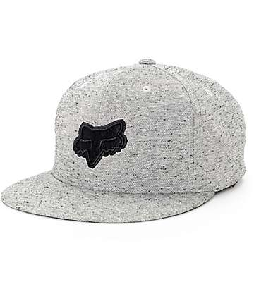 Fox Fret Grey Snapback Hat