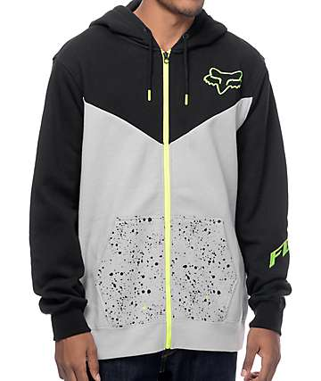 Fox Sanktion Black & Grey Zip Up Hoodie