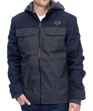 Fox Straightaway Black & Grey Jacket