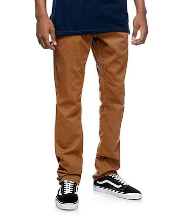 Free Word Messenger pantalones ceñidos en marrón